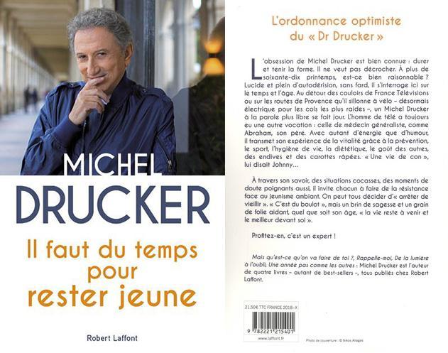 michel drucker - Il faut du temps pour rester jeune - Editions Stock - 4ecouv
