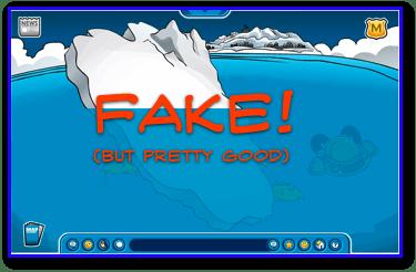 Fake iceberg tip