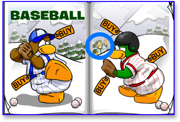 Get Green Baseball Uniform in Club Penguin
