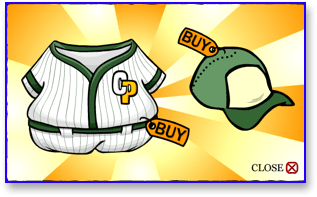 Club Penguin Green Baseball Uniform
