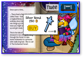 Club Penguin Silver Wand
