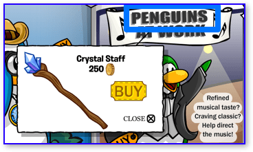 Club Penguin Crystal Staff