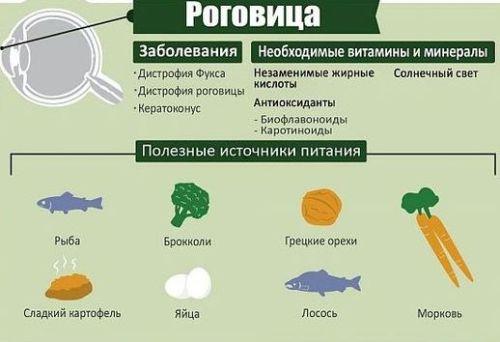 Витамины и минералы для роговицы