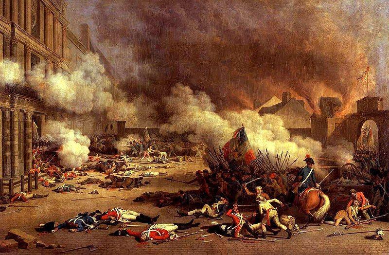 Французская революция — очень быстро скатилась к социальному хаосу и кровопролитию