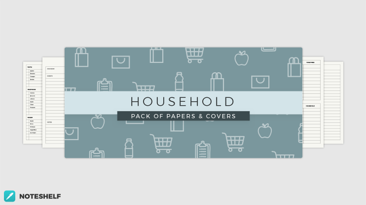Household themed templates in Noteshelf 2
