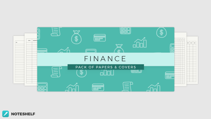 Finance themed templates in Noteshelf 2