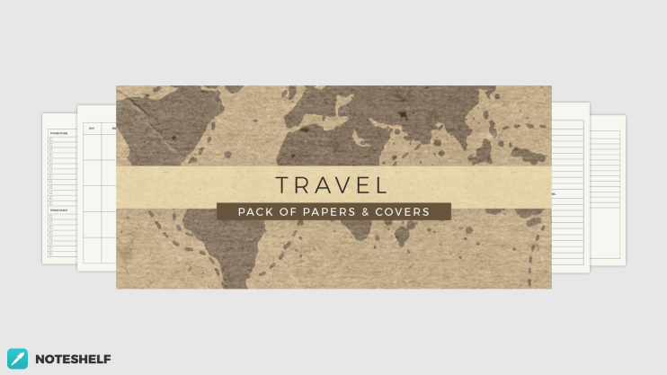 Travel themed templates in Noteshelf 2