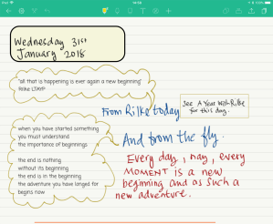snippets of Hadge Hughes's note-taking 1