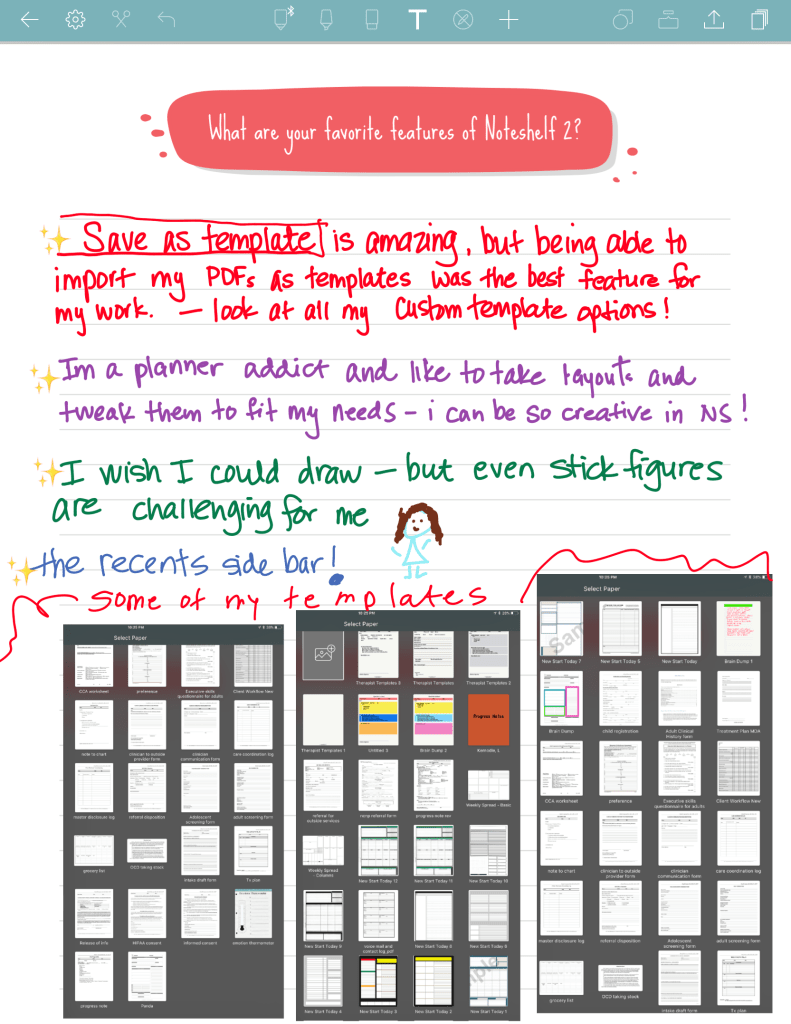 Cheryl's favorite features in Noteshelf2