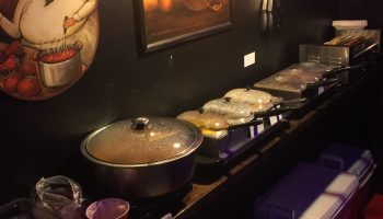 Our newly expanded food buffet at Club3X