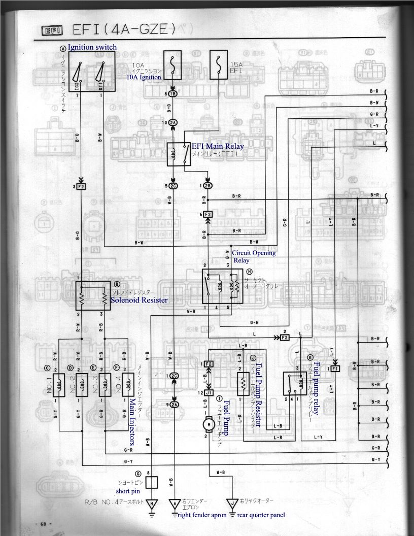 4a 101 Ecu Pin Identification  Now