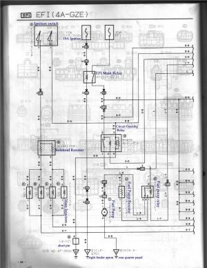 4AGZE (Japan) AE92101 ECU Pin Identification (Now