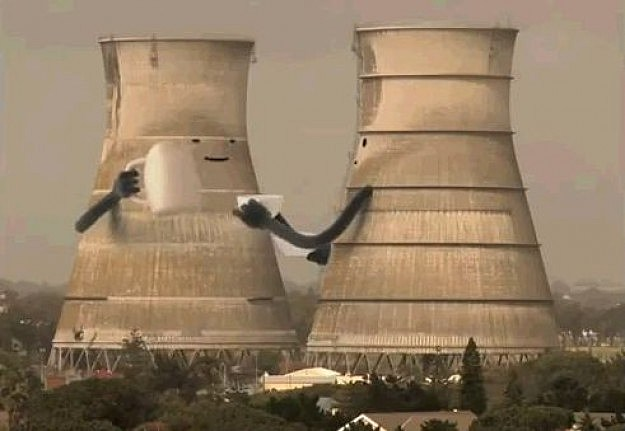 These Nuclear Cooling Towers Never Even Saw It Coming Video
