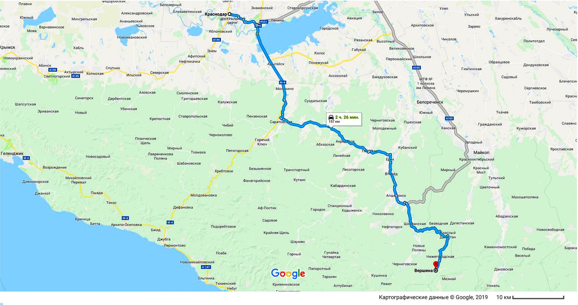Как добраться до Гуамки из Краснодара