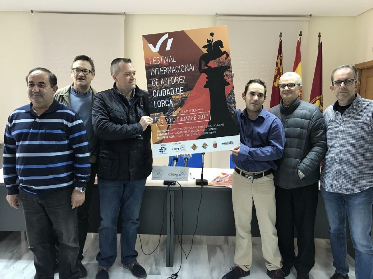 Presentación VI Festival Internacional de Ajedrez ''Ciudad de Lorca'' 2017