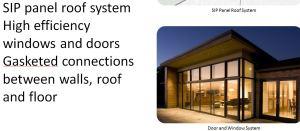 SIP panel doors windowa for net zero homes