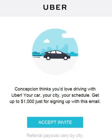 1000 to drive as uber