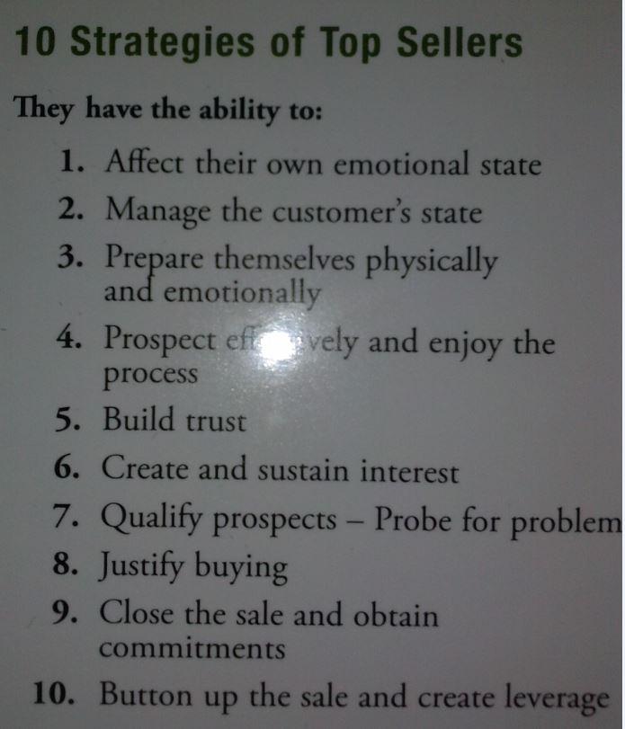 Strategies for Top Sales Men