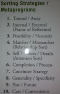 sorting strategies
