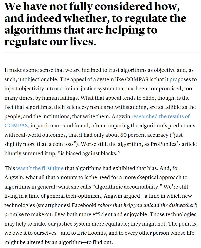 Bias in math algorithm affecting lives