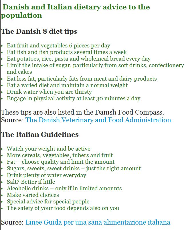 danish italian senior diet