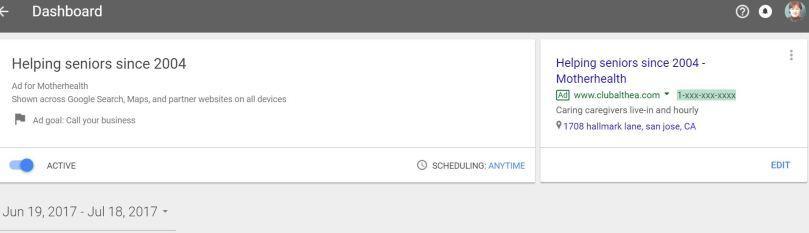 google ad caregivers