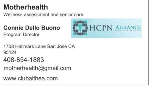 What home alone seniors need a hug and a caring companion brain business card connie w hcpn logo colourmoves