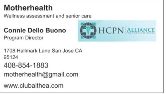 business card connie w hcpn logo