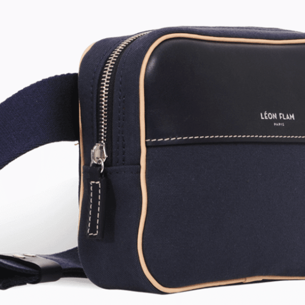 SAC/BAG Couzinet NAVY by LÉON FLAM PARIS - Made in France