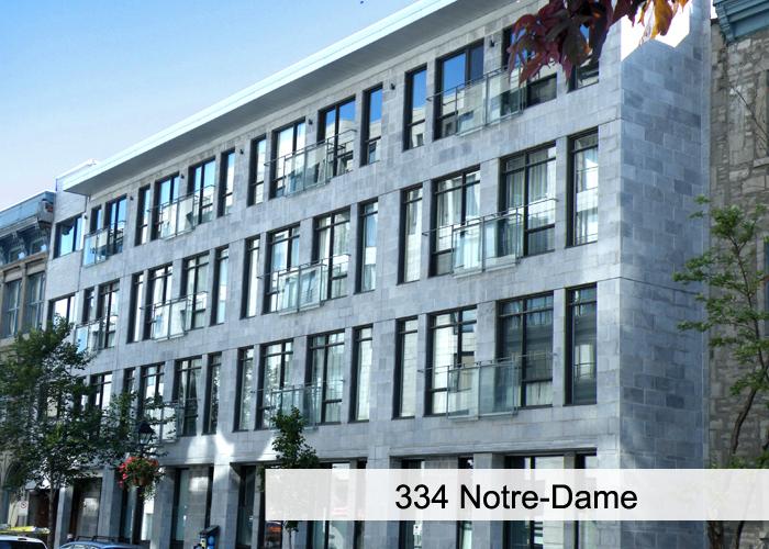 334 Notre-Dame Condos Appartements