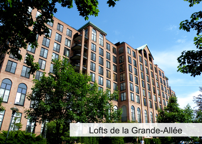 Les Lofts de la Grande-Allée Condos Appartements