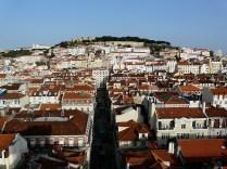 Ein Hügel in Lissabon