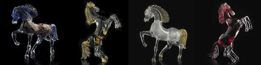 Servizi Esclusivi Cavalli in Vetro di Murano