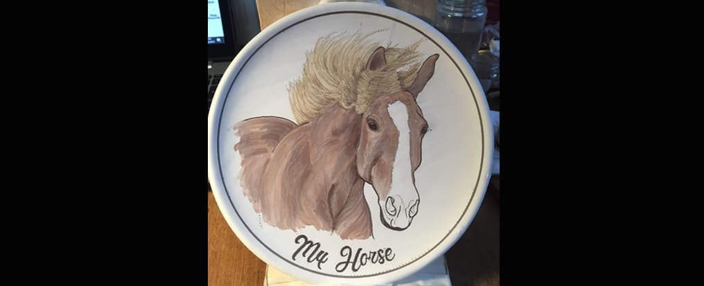 How the plate with its horse is born