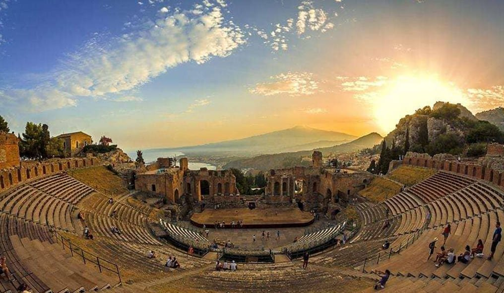 The Hellenistic Greek Theatre in Taormina