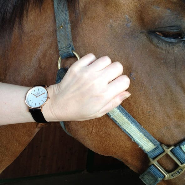 Thoroughbred Watch and Woman