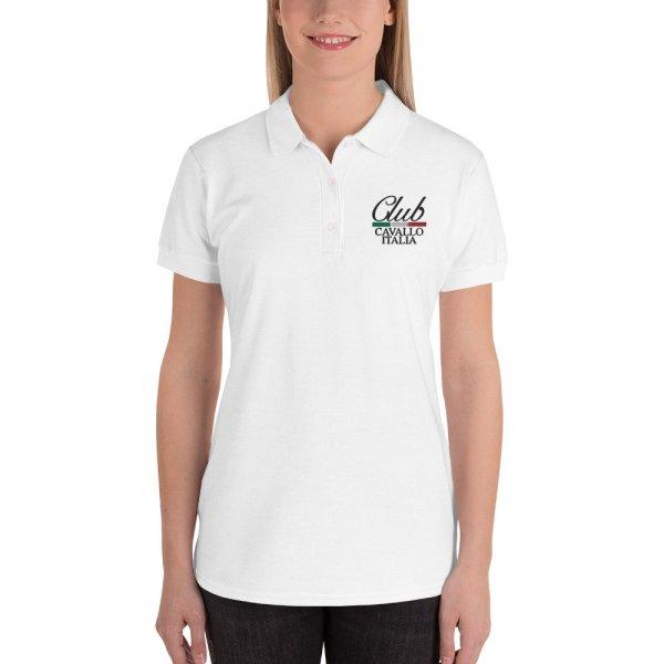 Embroidered Women's Polo Club Cavallo Italia