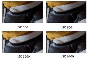 Comparativa Valores de ISO
