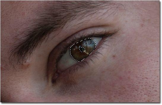 Como cambiar el color de ojos en Photoshop 04_Seleccion