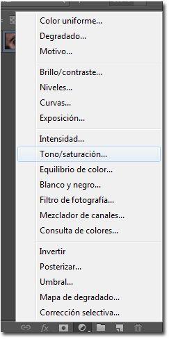 Como cambiar el color de ojos en Photoshop 05_Panel capas