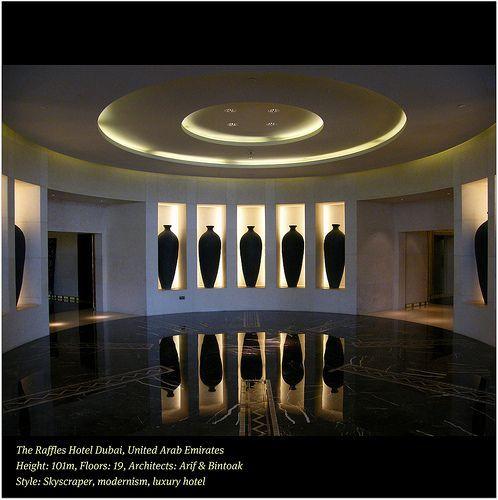The Raffles Hotel Dubai, UAE ICON Follows in the tradition of the Raffles Hotel in Singapore. WORLD SENSE HOSPITALITY Enjoy the REFLECTIONS, por  UggBoyUggGirl PHOTO WORLD TRAVEL