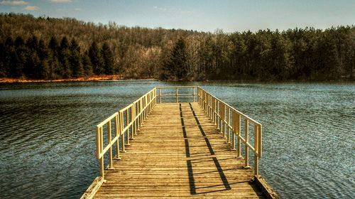 Jetty at the park, por dogfrog