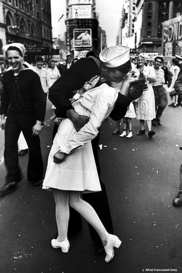 Alfred Eisenstaedt El beso en Times Square