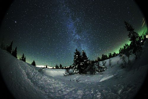 Milkyway as seen from Trysil shot with samyang 8mm fisheye, por StarHuntingTrysil
