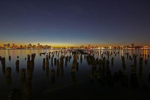 ersey City Skyline at Sunset (Explore), por geezaweezer