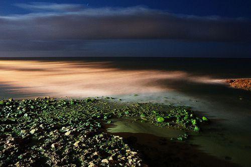Night seascape (long exposure), por felipe_gabaldon