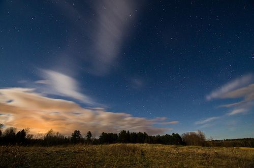Sunkhaze Meadows Under the Stars; Benton, Maine, por Jody Roberts
