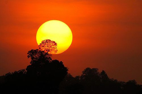 Sunset @ Kabini, por Vinoth Chandar