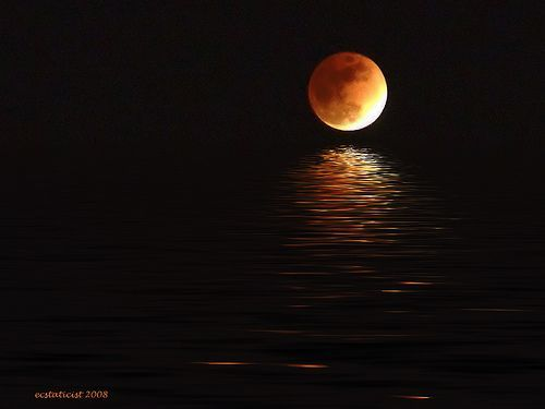 eclipsed moon flood, por Evan Leeson