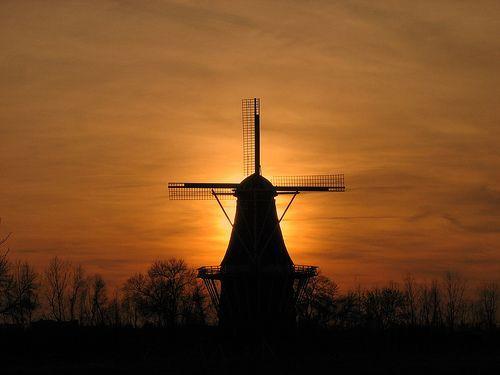De Zwaan at Sunset (IMG_4887), por Norm Hoekstra
